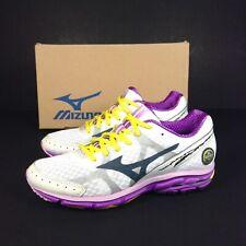 Mizuno Wave Rider 17 Zapatos de entrenamiento para mujer Morado Blanco Talla 36.5 4/E Reino Unido