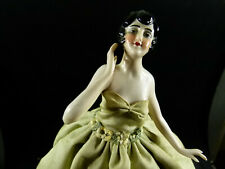 Vieja teepuppe half Doll art deco dama Lady como lámpara c.1920/30