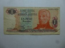 Old Argentina Paper Money Currency - #311 1983-84 1 Peso Argentino - Well Circ.