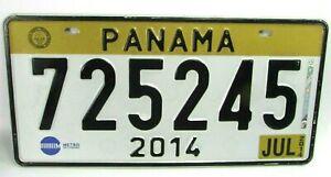 2014 PANAMA License Plate #7252475 July