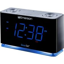 SmartSet Alarm Clock Radio LED Bluetooth Speaker USB Charger for iPhone android