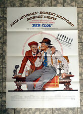 DER CLOU / THE STING * A1-FILMPOSTER -Ger 1-Sheet ´74 PAUL NEWMAN, R. REDFORD