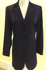 NWT Ralph Lauren Wool Dark Navy Long Blazer/Jacket SZ 16 $350.00