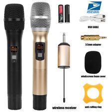Pro 25Channel Handheld Wireless Microphone Uhf Mic W/Receiver For Karaoke Speech