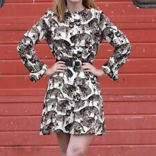 H&M Bengal Cat Leopard Mini Dress Blogger Favorite Size 6