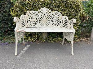 Cast Iron Bench French style white iron Garden Bench