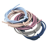 5 Meters Mixed Solid Round Rubber Cord Elastic String DIY Jewelry Hair Band