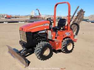 2013 Ditch Witch RT45 Ride-On Trencher Dozer Side Shift Tractor Diesel bidadoo
