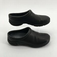 Merrell Encore Nova 2 Clog Mules Shoes Slip On Comfort Leather Black Womens 8.5