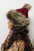 New Women Winter warm Beanie Pompom faux fur Hat
