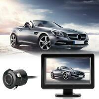 "Auto Rückfahrkamera 170° Wasserdicht Nachtsicht+4,3"" TFT LCD Bildschirm Mon #S"