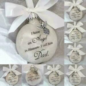 Commemorate Ornaments Feather Ball - Angel In Heaven Memorial Ornament J5Y6