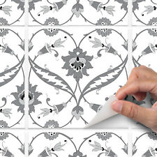 Grey traditional tile sticker for kitchen or bathroom - T9 - Style 5