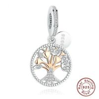 Pandora Charms Rose Gold Family Tree Charms Beads 925 Sterling SilverJewelry