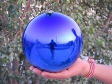 Vintage Decorative 7''Cobalt Blue Heavy Glass Original Kugel /Christmas Ornament