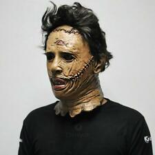 Face Mask Latex Texas Chainsaw Massacre Leatherface Halloween Full Facial Cover