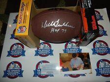 Dick Butkus Autographed  SIGNED Football CHICAGO BEARS W/ Proof HOF 79  Auto