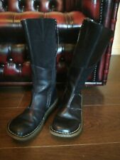 Dr Martens Mid Calf Black Leather Side Zip 3A63 Boots UK Size 5