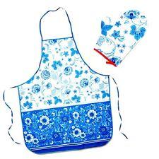 GJHEL Tablier, Gant de cuisine set de cuisine Russev Tablier motif GZHEL