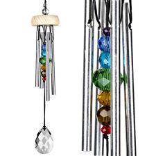 Woodstock Chimes GemDrop Rainbow Prism Ash Wood 7Gems 4Bars Crystal Drop GEMPR