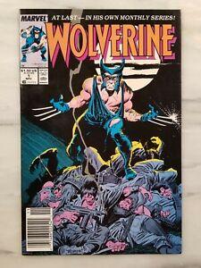 WOLVERINE #1 1988 NEWSSTAND EDITION CLAREMONT BUSCEMA UNREAD MID GRADE