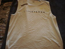 MEN'S NIKE LIVESTRONG WHITE SLEEVELESS TANK SHIRT XL EXTRA LARGE LANCE ARMSTRONG