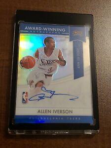 2020-21 Panini National Treasure Award Winning Autographs Allen Iverson ebay 1/1
