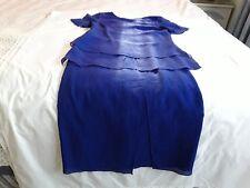 Anthea Crawford Cobalt Blue Designer Top & Skirt Set~Cocktail Race Day Weddings