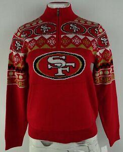 San Francisco 49ers NFL Women's 1/4 Zip Sweater