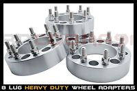 4X 8 LUG WHEEL SPACERS 8X6.5 | 1 INCH FITS SILVERADO 2500 3500 HD DURAMAX 14X1.5