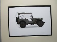 1942 Ford GPW Jeep    artist art Auto Museum Full color  Illustrated
