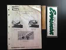 Eversman Mfg Ditchers Assembly, Parts, & Operating Instructions Manual + Sticker
