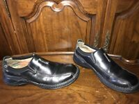 Clarks Escalade Mens Black Leather Slip On Loafer Casual Shoes Size 9.5M