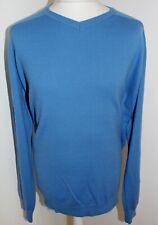 prezzo consigliato £ 35 M/&S Blue Harbour Puro Lana D/'Agnello Crew maglione a girocollo ~ Taglia XXL ~ BLU