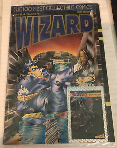 The 100 Most Collectible Comics Wizard Magazine First Edition Sealed 1993 w/Card