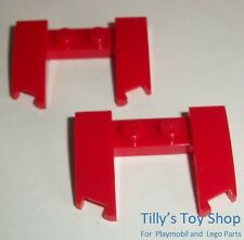 Lego - Two 4x3x2/3 Cutout Vehicle Front With Bow  -  Bright Red - ID 11291 - NEW