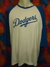 L.A. Dodgers - Guy Wellman - SIGNED - T-shirt - 3/4 Sleeve - Blue/White