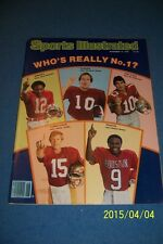 1979 Sports Illustrated FLORIDA STATE Jimmy JORDAN College Football Preview N/L