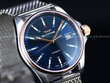 New Glycine Men's 36mm Combat 6 Automatic Two Tone Rose PVD Blue Dial Watch 3916