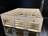 1/64 3 Bay Automotive Garage Warehouse Shop for Cars and Trucks