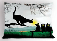 Animal Pillow Sham Mother Cat Baby Kittens King Size Pillowcase 36 x 20 Inches