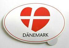 Souvenir-Aufkleber Dänemark Flagge Danmark Herz Love 80er