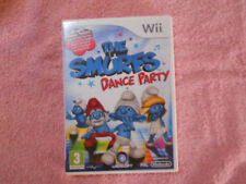 Wii MUSIC & DANCE GAME THE SMURFS DANCE PARTY WITH MANUAL - FAST POST