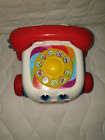 FisherPrice Chitter Chatter Pull Along Phone Activity Toy