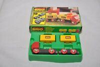 Brio TRUCK with TRAILER(#33525) / RIMLESS wheels / Original box / Brio 1985