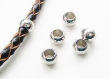 Metallperlen Spacer Rondellen 7,5x12mm für Bänder 7,5mm 10 Stück Großloch Perlen