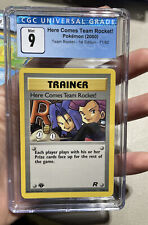 Here Comes Team Rocket 1st Edition Mint 9 CGC Pokemon #71
