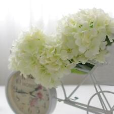 20x Artificial Hydrangea Silk Flower Head Bulks Wedding Party Décor White