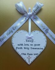 ** HANDMADE PERSONALISED first holy communion KEEPSAKE plaque GIFT **GORGEOUS**