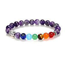 7 Chakra Healing Balance Beaded Bracelet Amethyst Yoga Reiki Prayer